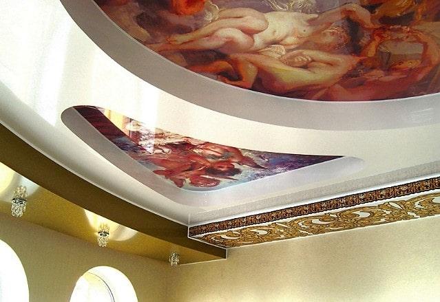 Дизайнерский двухъярусный потолок