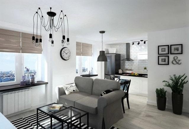 Классический белый матовый натяжной потолок
