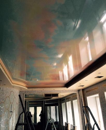 Дизайнерский натяжной потолок