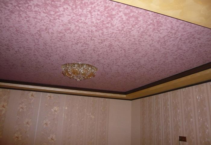 Замшевый натяжной потолок в СПб