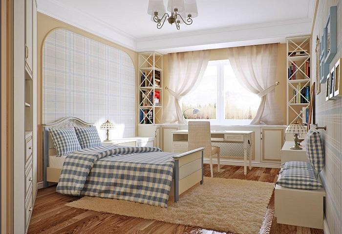 Натяжные потолки в спальне СПб