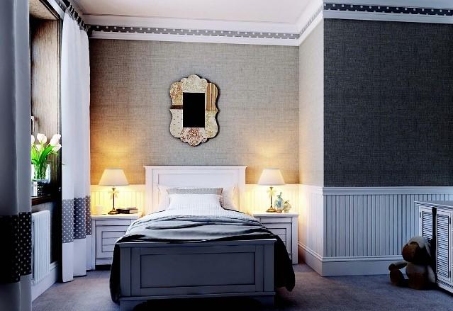 Потолочный багет дорисовывает образ всей комнаты