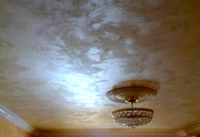 Декоративная штукатурка потолка СПб