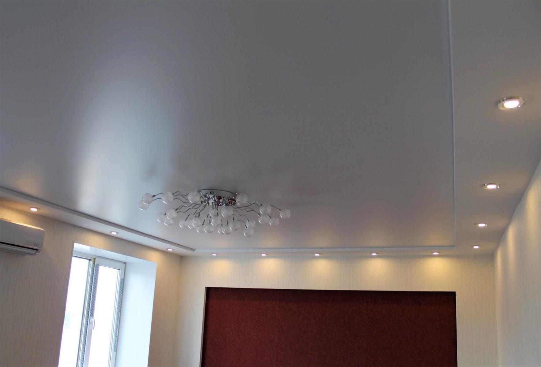 Сатиновый двухуровневый потолок