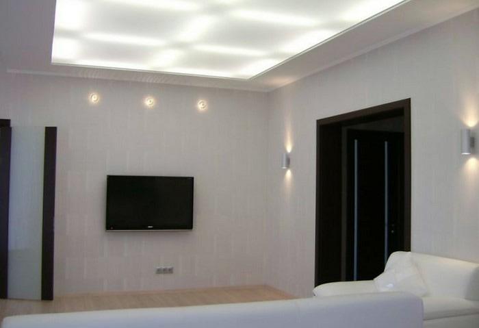 Натяжные потолки в квартире фото