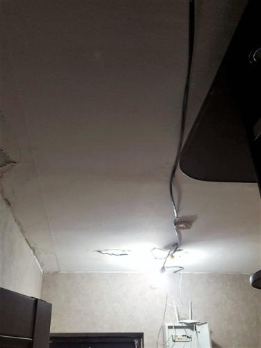 Потолок до ремонта