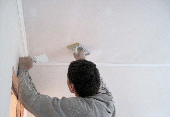 Шпаклевка потолка под покраску СПб