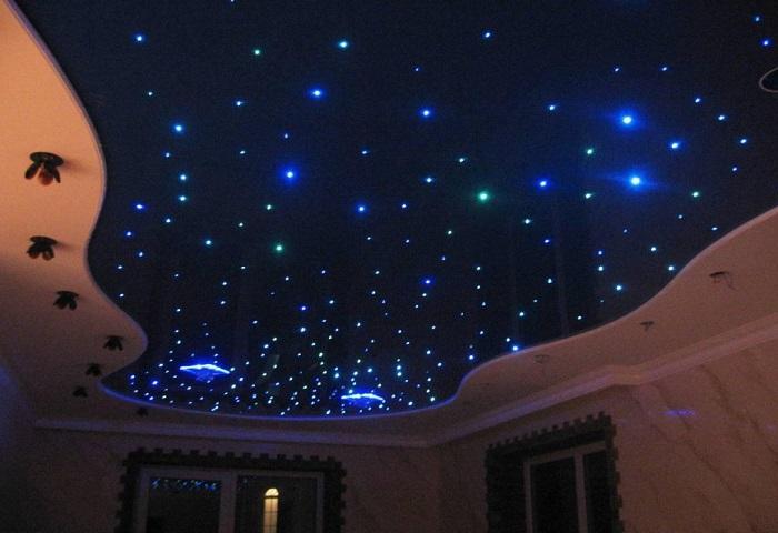 Натяжной потолок звездное небо в СПб